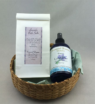 Lavender Aromatherapy Spray - Bath Salt<br>Iroquois Basket